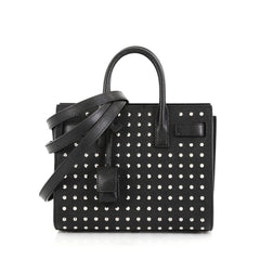 Saint Laurent Sac de Jour Bag Studded Leather Baby  black 42692/01