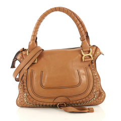 Chloe Marcie Satchel Leather Medium  brown 42695/1