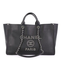 Chanel Deauville Tote Studded Caviar Large