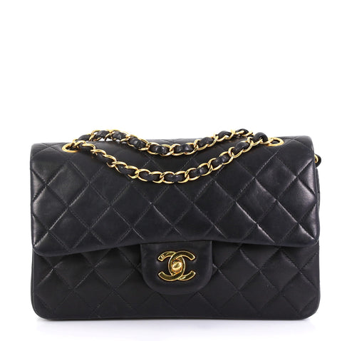 58fa97c4c180 Chanel Vintage Classic Double Flap Bag Quilted Lambskin 427283 – Rebag