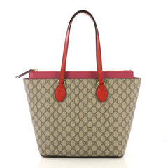 Gucci Linea A Zip Tote GG Coated Canvas Medium  brown 42746/1