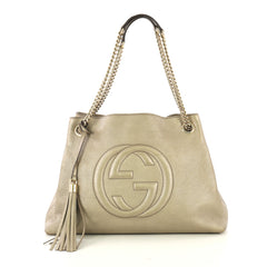 Gucci Soho Chain Strap Shoulder Bag Leather Medium 42754/1