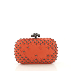 Bottega Veneta Box Knot Clutch Studded Intrecciato Nappa Small
