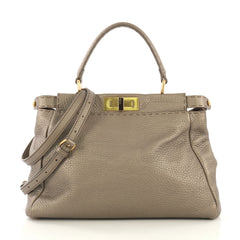 Fendi Model: Selleria Peekaboo Bag Leather Regular Brown 42788/24