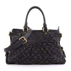 Louis Vuitton Neo Cabby Handbag Denim MM