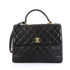Chanel Trendy CC Top Handle Bag Quilted Lambskin Large