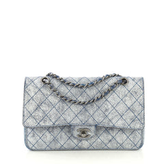 Chanel Classic Double Flap Bag Stitched Crackled Calfskin Medium