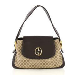 Gucci 1973 Satchel Diamante Canvas and Leather Medium - Rebag