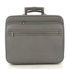 Louis Vuitton Pilot Case Taiga Leather Gray 428619