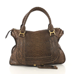 Chloe Model: Marcie Shoulder Bag Python Large Brown 42862/2