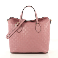 Signature Fold Over Tote Guccissima Leather Medium