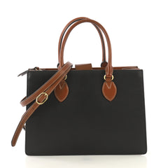 Gucci Model: Convertible Gusset Tote Leather Medium Black 42872/30