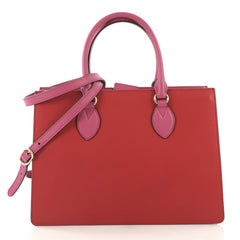 Gucci Model: Convertible Gusset Tote Leather Medium Red 42872/31
