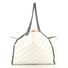 Stella McCartney Model: Falabella Reversible Tote Perforated Faux Leather Large White 42873/24