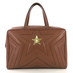 Stella McCartney Model: Stella Star Overnight Duffle Quilted Faux Leather Brown 42873/26