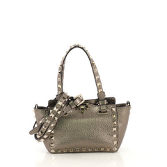 Valentino Rockstud Tote Soft Leather Micro - 42877/2