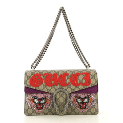 Gucci Dionysus Bag Embroidered GG Coated Canvas Small Brown 428831