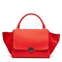 Celine Trapeze Suede Medium