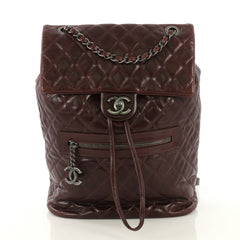 Chanel Mountain Backpack Quilted Glazed Calfskin Large-42913/1