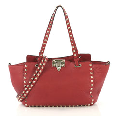 Valentino Rockstud Tote Pebbled Leather Small - 42919/3