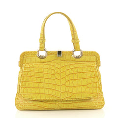 Bottega Veneta Front Pocket Frame Tote Crocodile Medium 42937/1