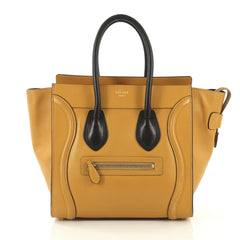 Celine Bicolor Luggage Handbag Leather Micro