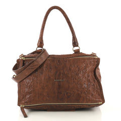 Givenchy Pandora Bag Distressed Leather Large Brown 429962