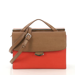 Fendi Tricolor Demi Jour Satchel Leather