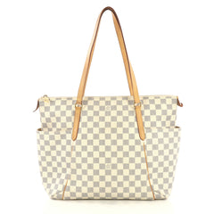 Louis Vuitton Totally Handbag Damier MM White 430192