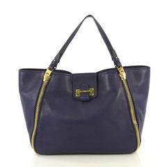 Tom Ford Sedgwick Zip Tote Leather Medium Blue 430708