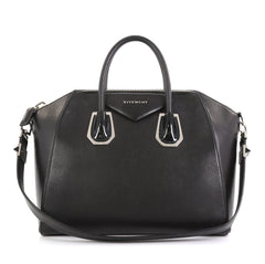 Givenchy Antigona Bag Leather and Kenya Metal Medium Black 430742