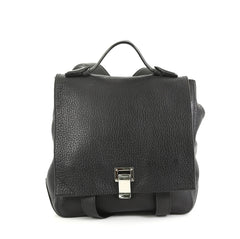 Proenza Schouler Courier Backpack Leather Medium Black 430841