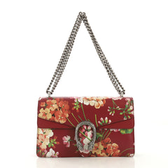 Gucci Dionysus Bag Blooms Print Leather Small Red 430973
