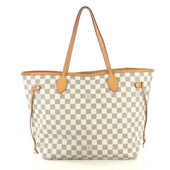 Louis Vuitton Neverfull NM Tote Damier MM White 430975
