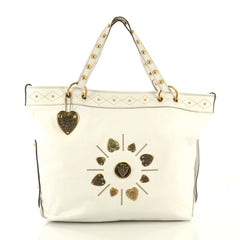 Gucci Irina Babouska Tote Leather White 431101