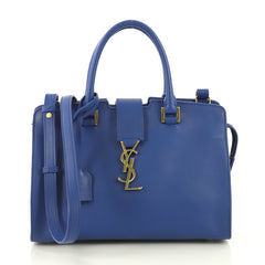 Saint Laurent Monogram Cabas Leather Baby Blue 431245