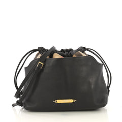 Burberry Model: Little Crush Crossbody Bag Leather and House Check Canvas Black 43126/1