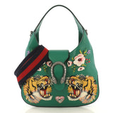 Gucci Dionysus Hobo Embroidered Leather Small Green 431341
