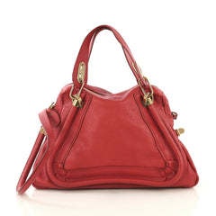 Chloe Paraty Top Handle Bag Leather Medium Red 4315602