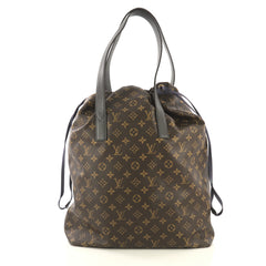 Louis Vuitton Cabas Light Drawstring Bag Monogram Split Canvas  Brown 4320845