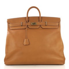 Hermes HAC Birkin Bag Brown Ardennes with Gold Hardware 55 Brown 4322928