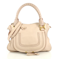 Chloe Marcie Satchel Leather Medium Pink 432632
