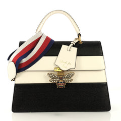 Gucci Queen Margaret Top Handle Bag Colorblock Leather Large