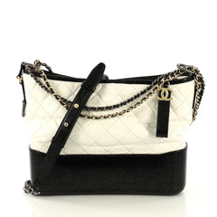 Chanel Gabrielle Hobo Quilted Aged Calfskin Medium White 4328302
