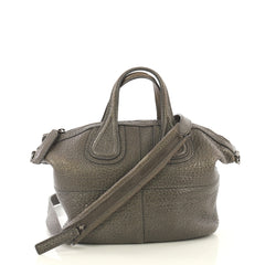 Givenchy Nightingale Crossbody Bag Leather Micro Gray 432991