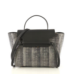 Celine Belt Bag Snakeskin Mini Black 433081