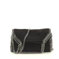 Stella McCartney Falabella Fold Over Crossbody Bag Faux Calf Hair Mini...