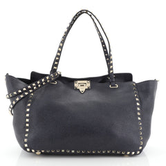Rockstud Tote Pebbled Leather Medium