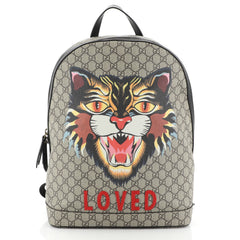 Gucci Zip Around Backpack Printed GG Coated Canvas Medium