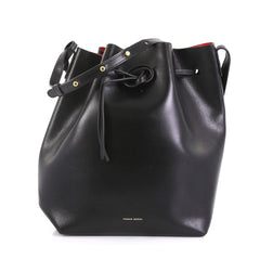 Mansur Gavriel Bucket Bag Leather Large Black 433952